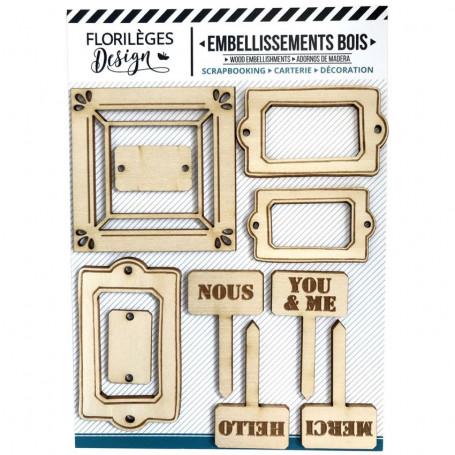 Embellissements bois 10 pc - La maison de Jeanne 2 - Florilèges Design