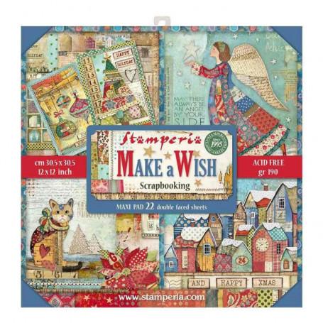 Set de papier 30x30 Make a Wish 22 feuilles - Stamperia