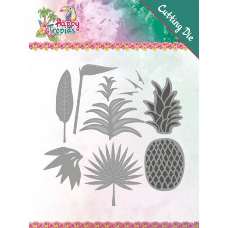 Dies Lush Leaves 9pc - Happy Tropics - Yvonne Creations