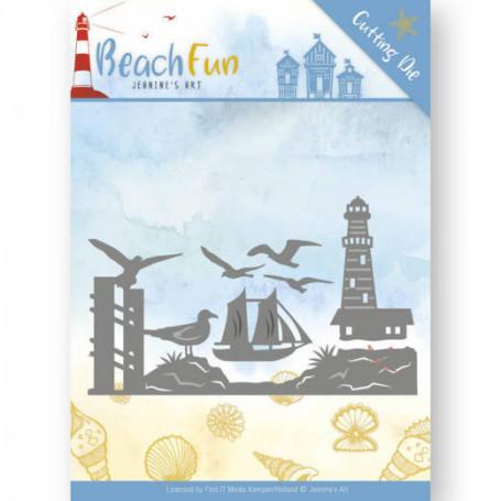 Dies Lighthouse Border 6 pc - Beach Fun - Jeanine's Art