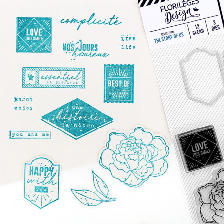 Combo Clear Die Happy with you - The Story of Us - Florilèges Design
