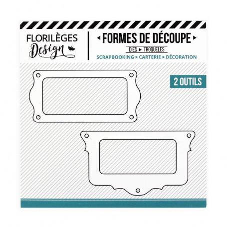 Dies Porte-étiquettes Festonnés 2 pc - Florilèges Design