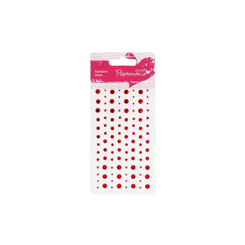 Perles Adhésives Rouge - Papermania