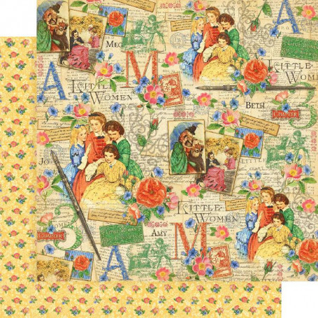 Papier 30x30 Sisterly Love 1 feuille - Graphic 45