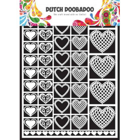 Embellissements papier A5 Coeurs – Dutch Paper Art - Dutch Doobadoo