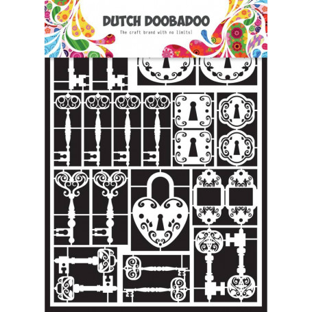 Embellissements papier A5 Clés – Dutch Paper Art - Dutch Doobadoo