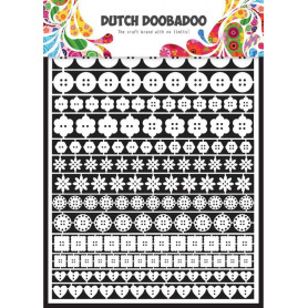 Embellissements papier A5 Boutons – Dutch Paper Art - Dutch Doobadoo