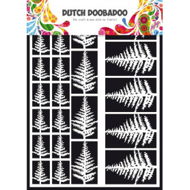 Embellissements papier A5 Fougères – Dutch Paper Art - Dutch Doobadoo
