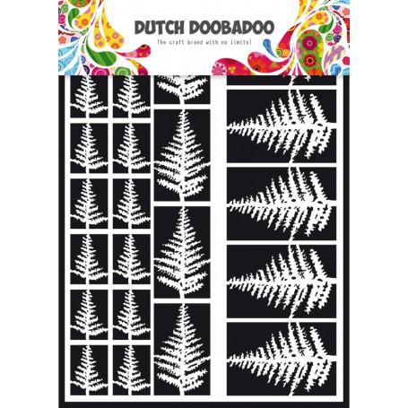 Embellissements papier A5 Fougères – Dutch Paper Art - Dutch Doobadoo