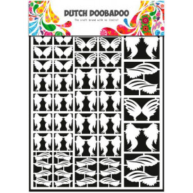 Embellissements papier A5 Plumes – Dutch Paper Art - Dutch Doobadoo