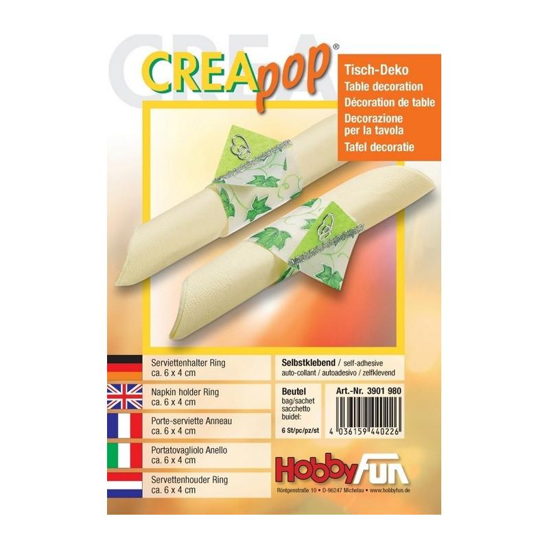 Porte-serviette Anneau Creapop à décorer – Décoration de table