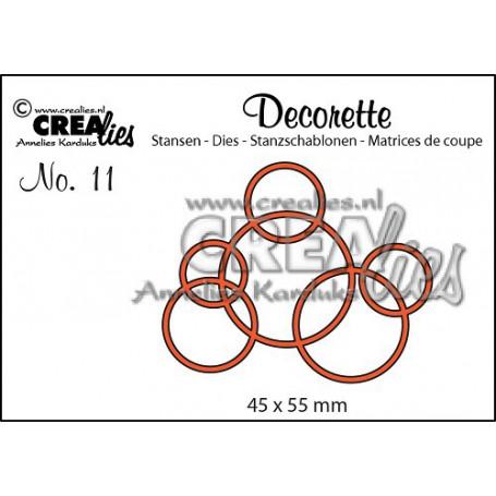 Die Decorette 11 Interlocking circles - Crealies