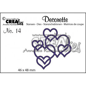 Die Decorette 14 Interlocking hearts - Crealies
