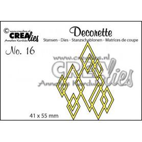 Die Decorette 16 Interlocking diamonds - Crealies