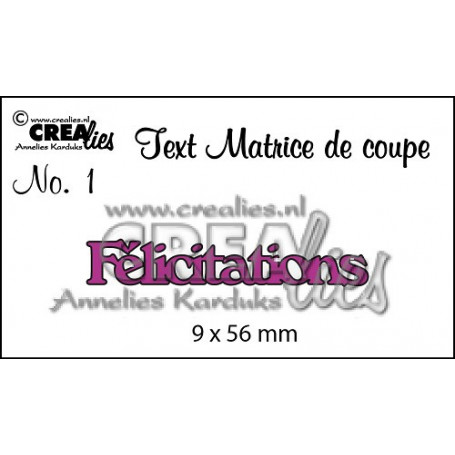 DieTexte 1 Félicitations - Crealies