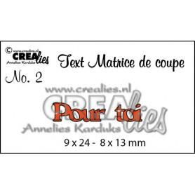 Die Texte 2 Pour toi - Crealies