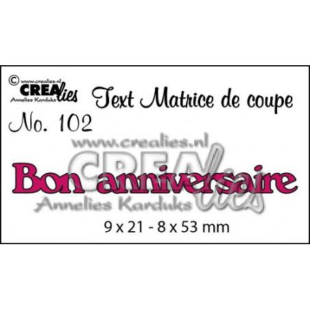 DieTexte 102 Bon Anniversaire - Crealies