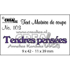 Die Texte 103 Tendres pensées - Crealies
