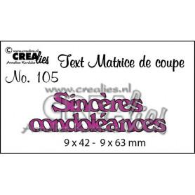 Die Texte 105 Sincères condoléances - Crealies