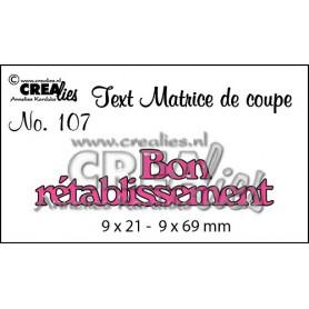 Die Texte 107 Bon rétablissement - Crealies