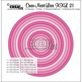 Dies Crea-Nest-Lies 21 XXL with stitchline - Crealies