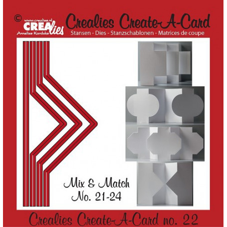 Die Create A Card no 22 Mix and Match - Crealies