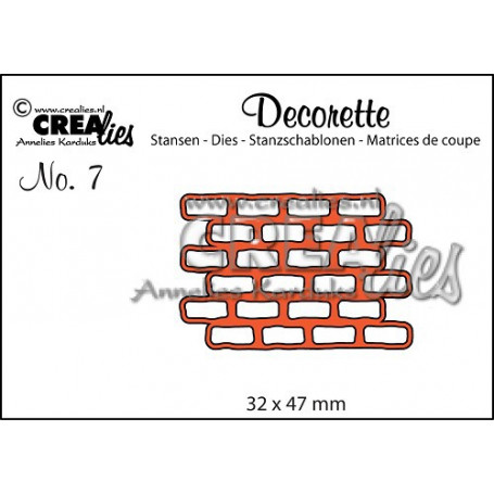 Die Decorette 7 Mur de briques - Crealies