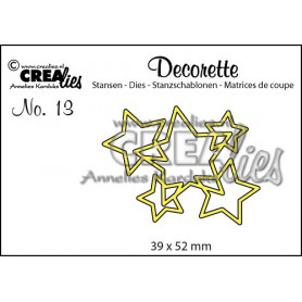 Die Decorette 13 Interlocking stars - Crealies