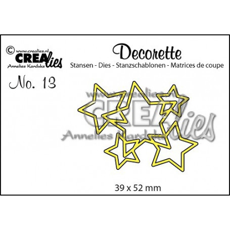 Die Decorette 13 Interlocking stars - Crealies