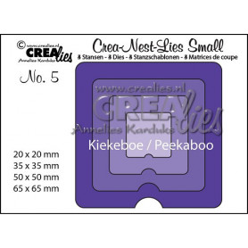 Dies Crea-Nest-Lies Small no 5 Peekaboo Square - Crealies
