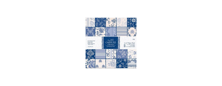 Collection Parisienne Blue - Docrafts Papermania Capsule