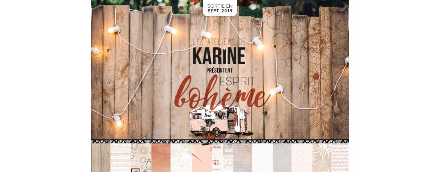 La collection Esprit Bohème des Ateliers de Karine est disponible chez Manoé Créa