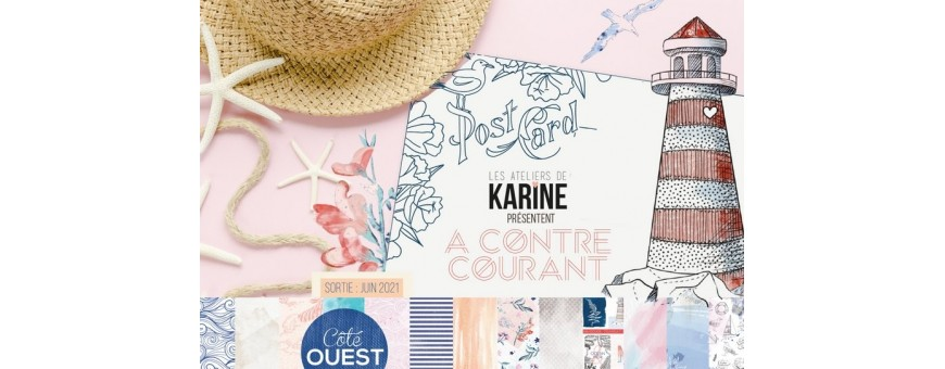 Retrouvez la collection A contre courant des Ateliers de Karine chez Manoé Créa