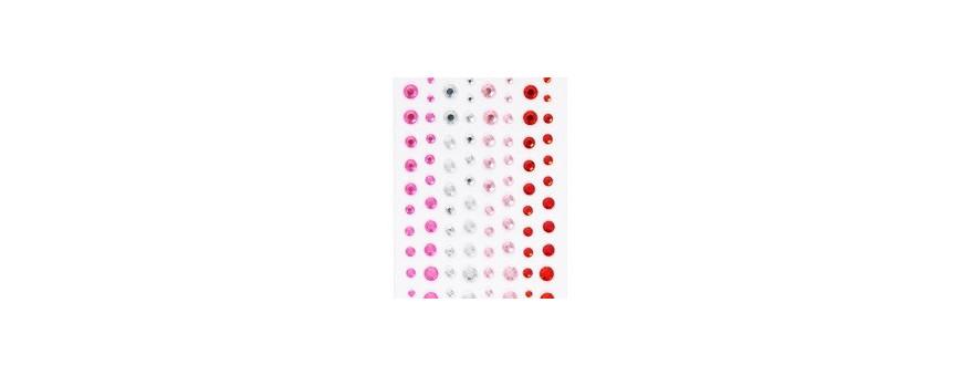 Perles et pierres adhésives